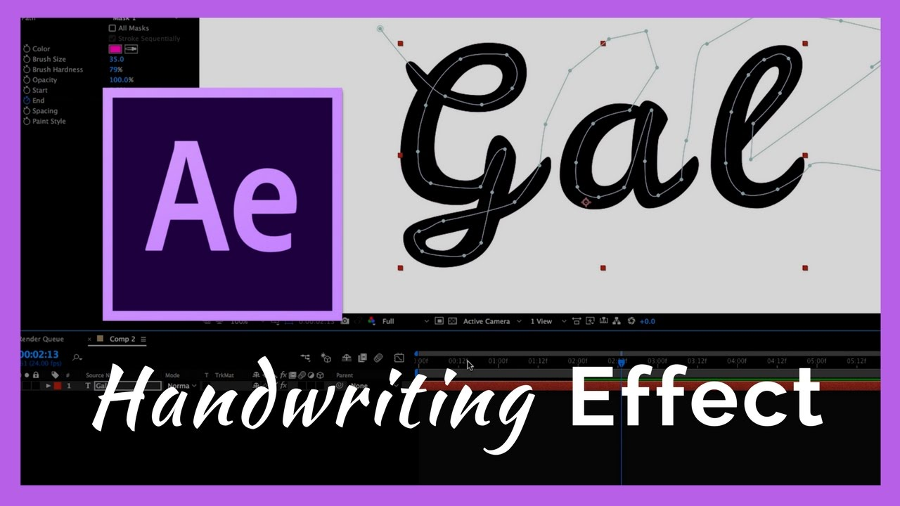 The Handwriting Effect in After Effects CC