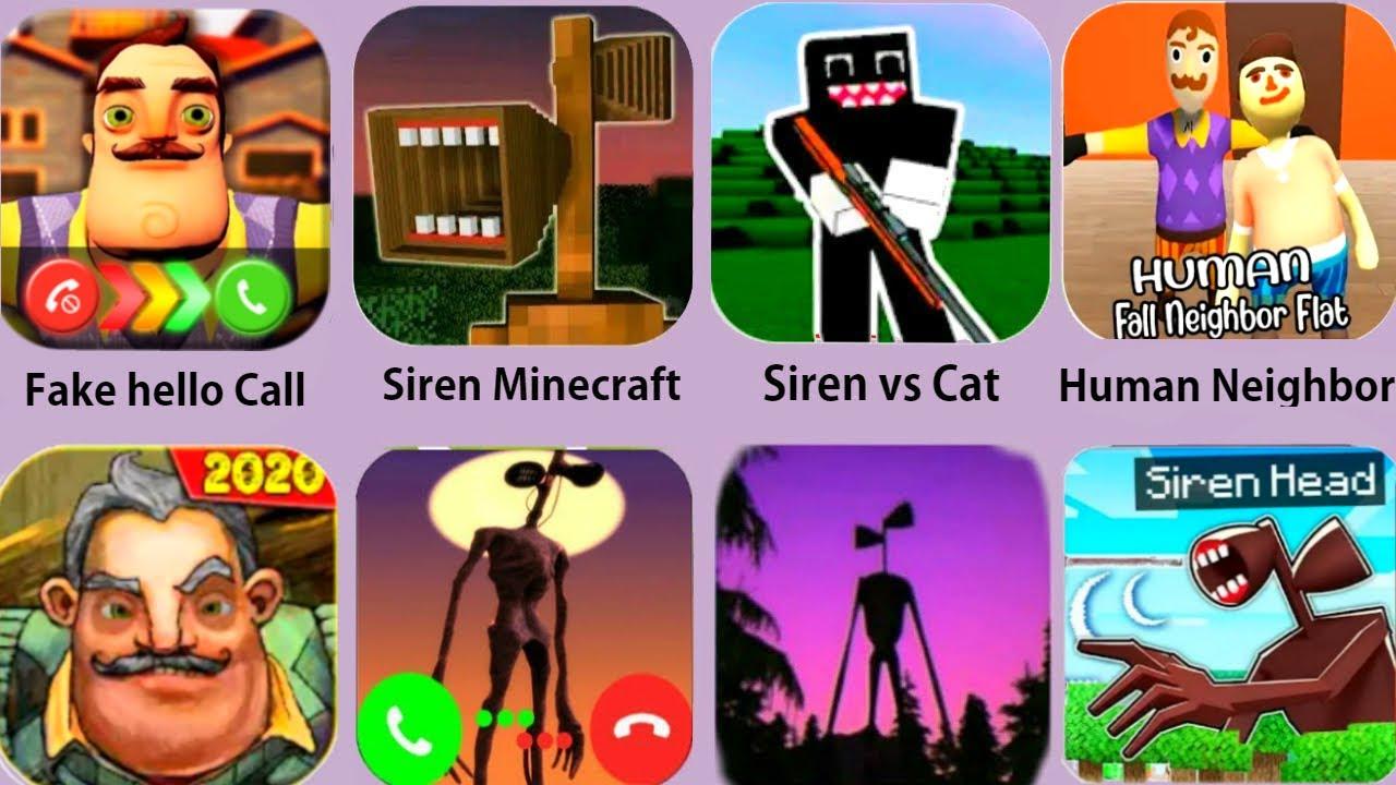 Hello Neighbor,Siren Head,Neighbor Minecraft,Fake Hello Call,Siren Head vs Cartoon Cat