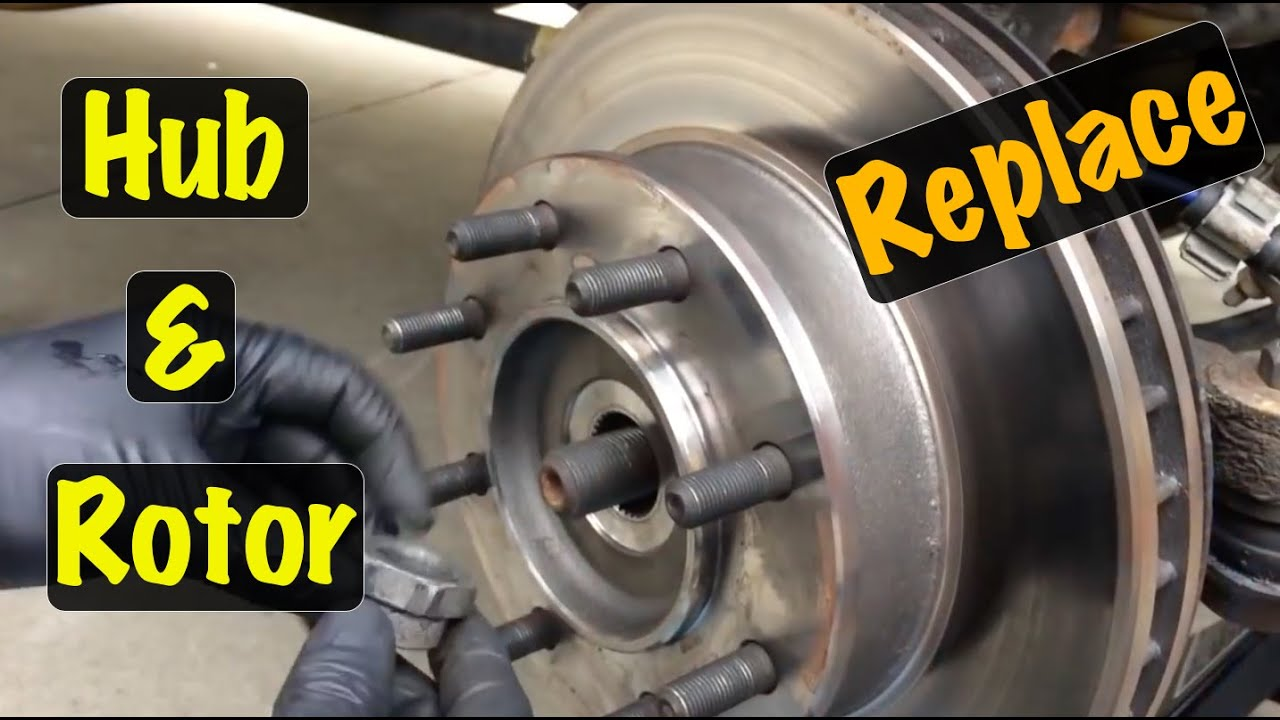 hight resolution of 1995 96 97 98 99 gm 4x4 truck front brake rotor wheel hub bearing assembly repair chevy gmc