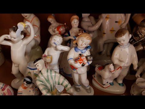 Фарфоровые статуэтки СССР, ЛФЗ, гжель, басни и сказки приятные впечатления , наслаждаемся искусством