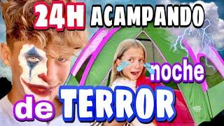 24H ACAMPANDO + BROMAS PESADAS //👻 SOFI pasa una noche de TERROR🙀