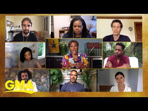 "Robin Roberts chats with creator Lin-Manuel Miranda, director Thomas Kail and members of the cast for ""Hamilton: History Has Its..."