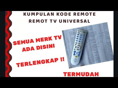 Kode Remote TV Merk TV Apa Saja Bisa