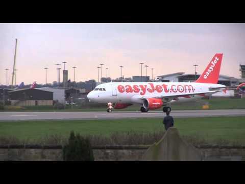 Landings and Take-offs at Leeds Bradford Airport (LBA), UK, 5th April, 2014, 15:10 - 16:10