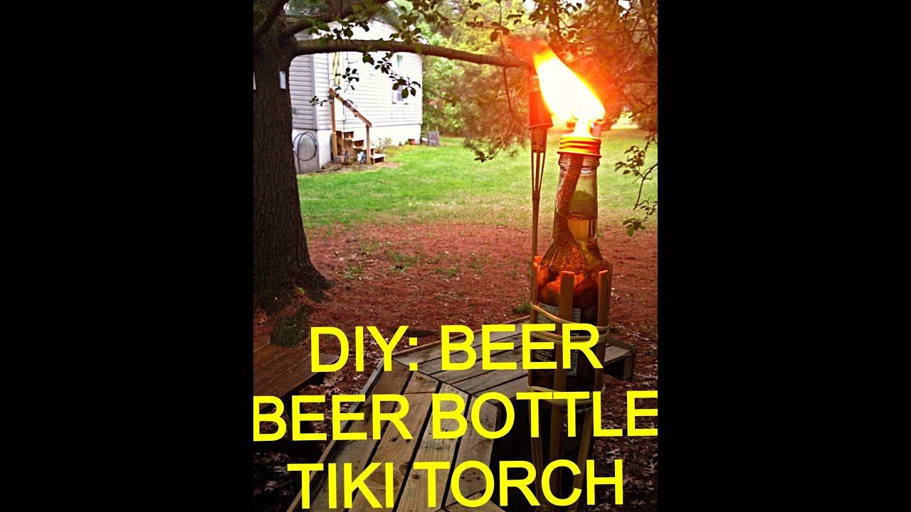 Diy beer bottle tiki torch youtube for Diy beer bottle tiki torches