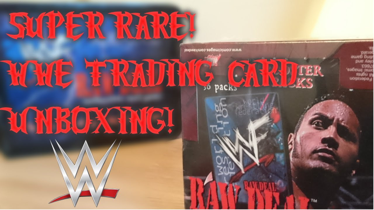 UNBOXING 16 YEAR OLD BOOSTER BOX (WWE RAW DEAL)
