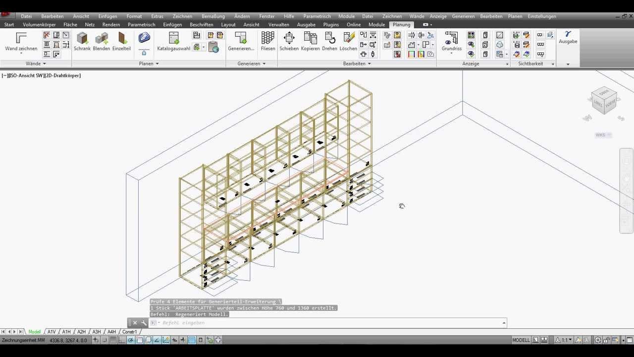 Technikerschule Beckum Cad T Tischlermodul Grundkonstruktion