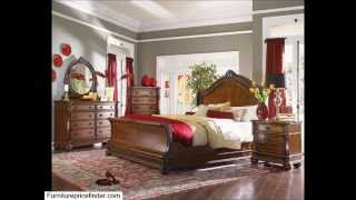 Roundhill Furniture Tiviers Solid Wood Construction Bed, King, Cherry Finish
