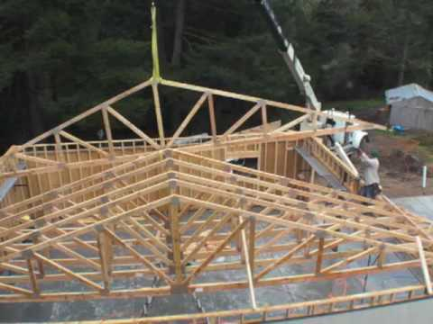 Garage roof trusses asurekazani for 40 foot trusses