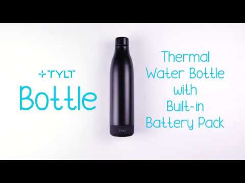 TYLT Bottle | Thermal Water Bottle with Power Bank