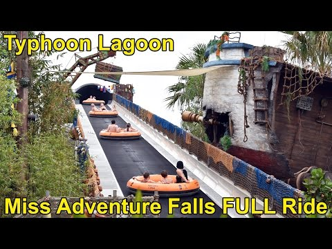 Miss Adventure Falls NEW Family Raft Ride at Disney's Typhoon Lagoon FULL POV Experience (2x Ride)