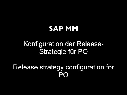 SAP MM - Release strategy configuration for PO