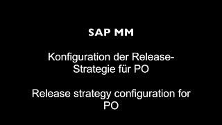 PO için SAP MM - Yayın stratejisi yapılandırma