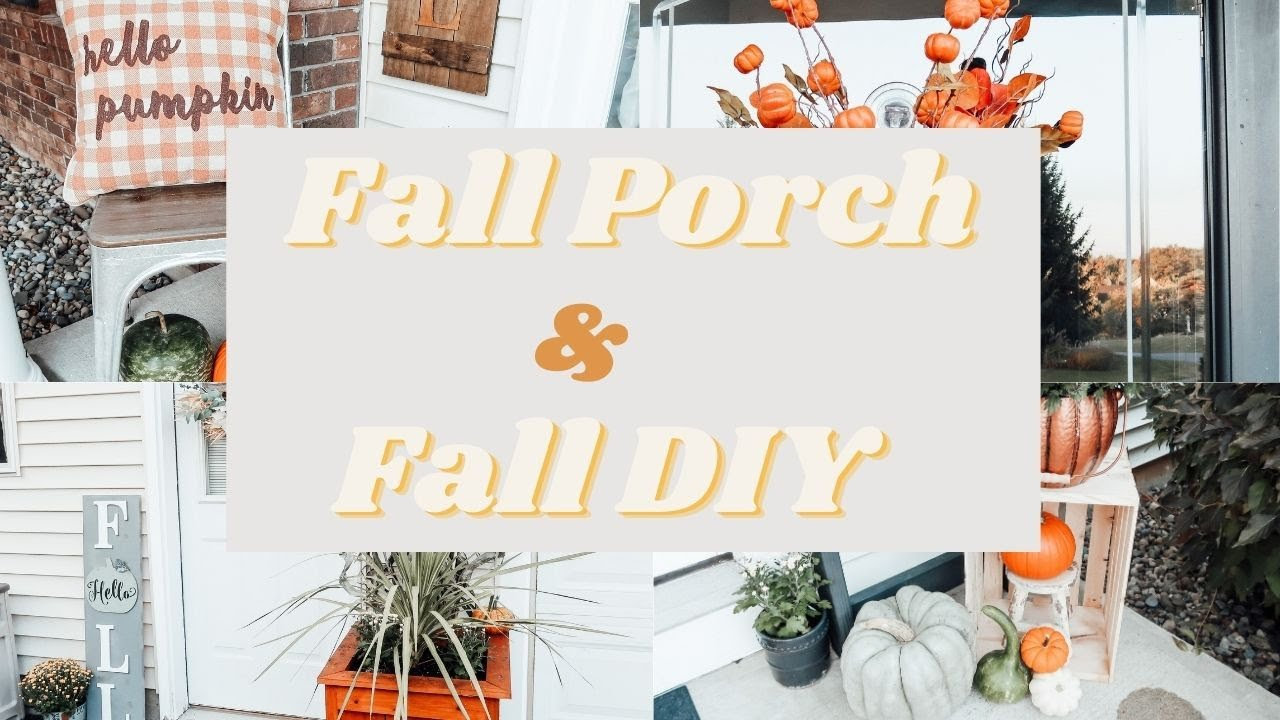 FALL FRONT PORCH DECOR 2020 🍂DECORATE WITH ME 🍂 FARMHOUSE DECORATING IDEAS 🍂 KYVOL E31 CYBOVAC
