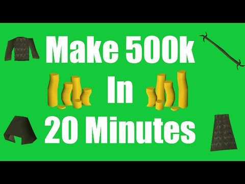 [OSRS] Make 500k in 20 Minutes with No Skill Requirements -  Oldschool Runescape Money Making Method