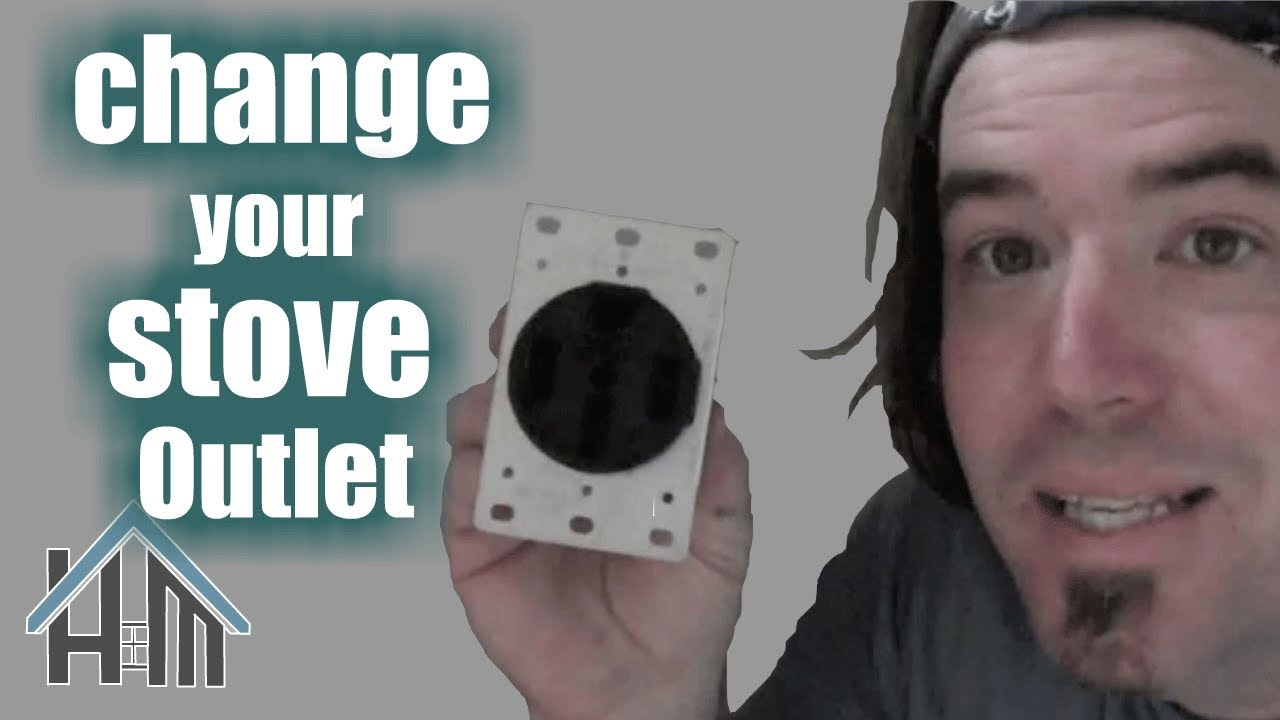 How to install replace stove outlet, 220 Easy! Home Mender  YouTube