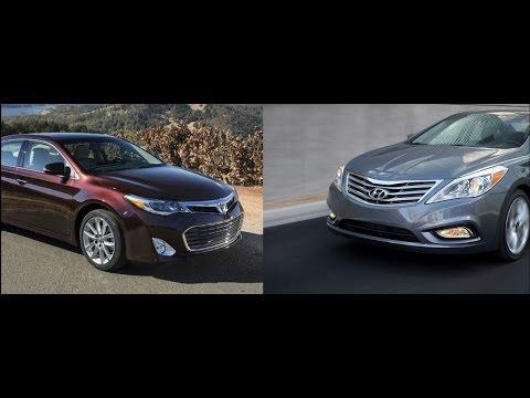 2017 Toyota Avalon Vs Hyundai Azera By The Numbers