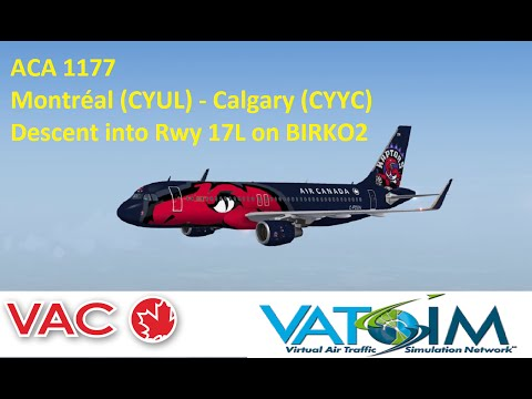 VAC on VATSIM: ACA 1177 - Descent in to Calgary (CYYC)