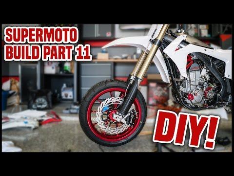 DIY Supermoto Fender - Cutting My Own! [Supermoto Build Part 11]