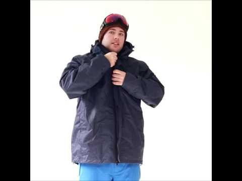 Xtm Baxter Mens Plus Size Ski Jacket Navy Marle