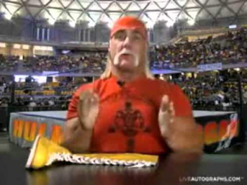 hulk hogan wishes you a happy birthday, Birthday card