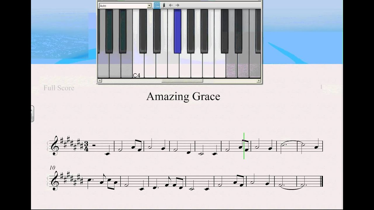 how to play amazing grace on keyboard
