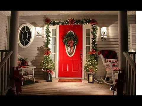 front porch christmas decorating ideas - Front Porch Christmas Decorations Ideas