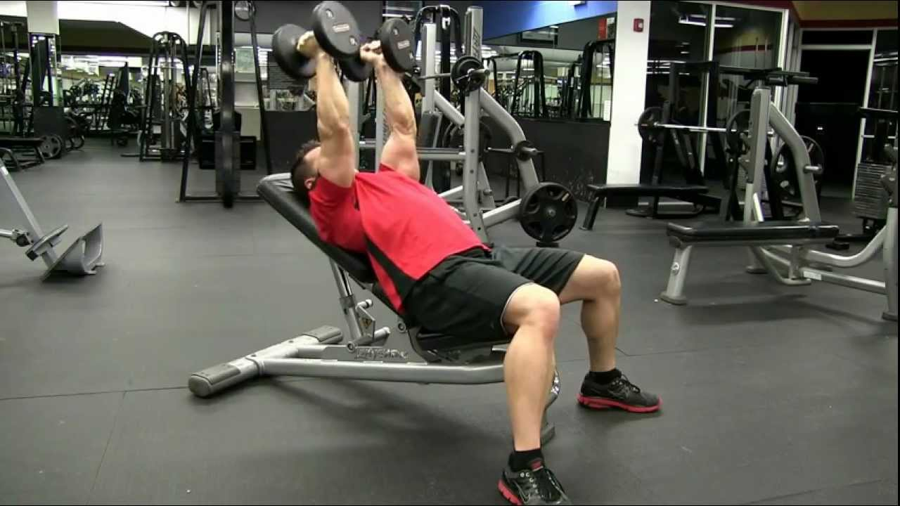 Incline Bench Dumbbell Tricep Extension