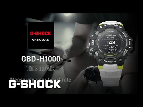 GBD-H1000 Tips movie - Measuring your heart rate: CASIO G-SHOCK