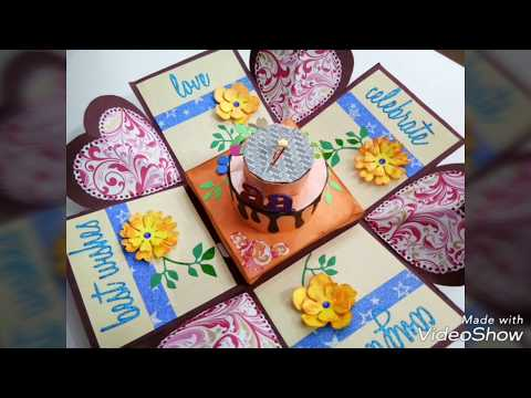 Mini explosion box |for  engagement| with paper cake| engagement ring box