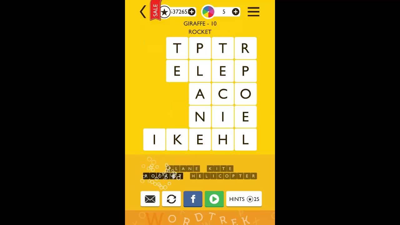 word trek giraffe 5x5 level 10 answer youtube
