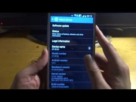 Samsung Galaxy Mega 5.8 GT-i9152 Test 1