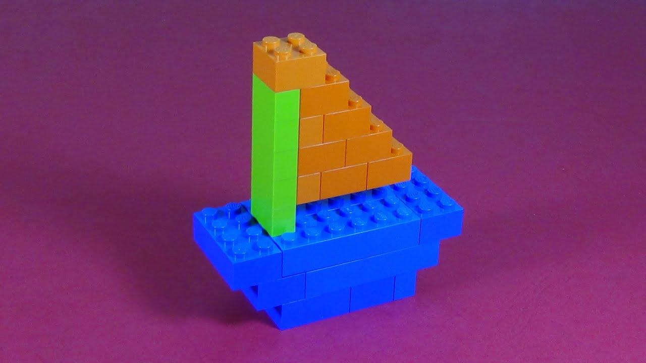 How to build lego sailboat 6177 lego basic bricks for Easy build bricks