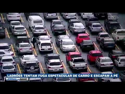 Ladrões tentam fuga espetacular de carro e escapam a pé