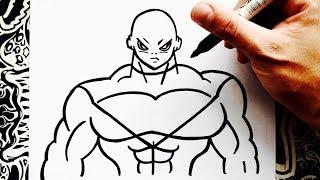 como dibujar a jiren | how to draw jiren | como desenhar o jiren