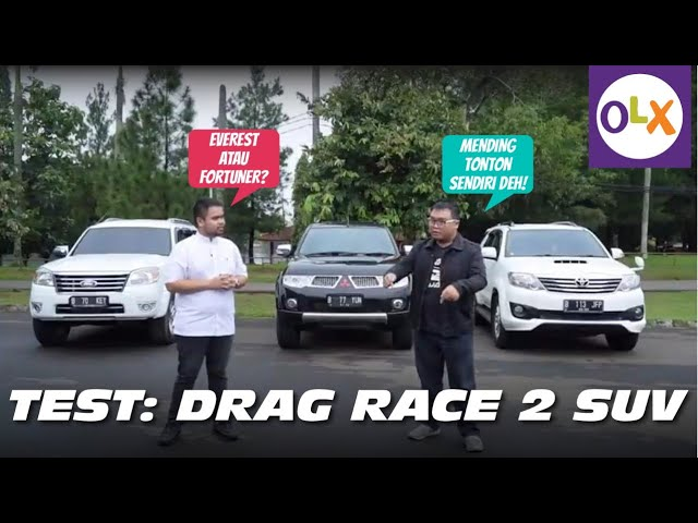 DRAG RACE: Toyota Fortuner vs Ford Everest (ft. Lugnutz Auto Junkie) | OLX Indonesia