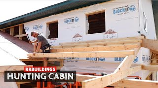 Building a Hunting Cabin 17: Porch Framing Solo