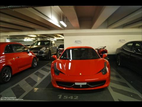 Supercars in Paris Parking (540c, Vantage, Race, SLS amg, 488, R8 ...)