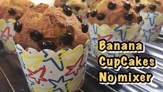 BANANA CUPCAKES LEMBUT ENAK TANPA MIXER | EASY BANANA CUPCAKES