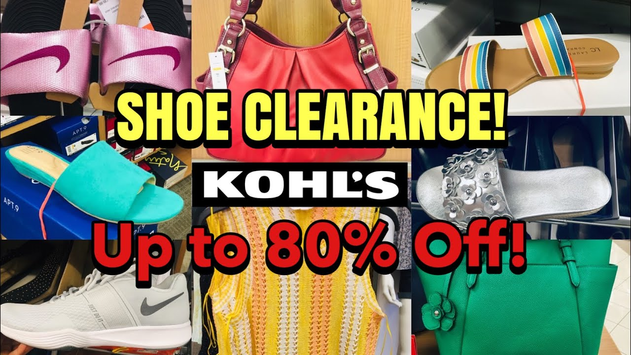 Kohl's SHOP WITH ME Shoe Clearance Up