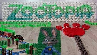 Zootopia in 45,000 dominoes (DominoERDMANN & DominoJOJO) thumbnail