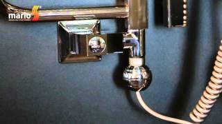 видео Электрический полотенцесушитель с терморегулятором низкого энергопотребления