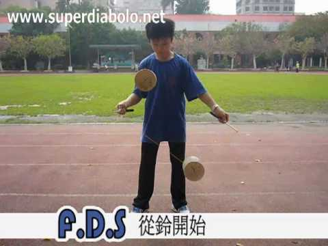 2 diabolos trick - YouTube