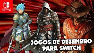Confira os lançamentos de DEZEMBRO para Nintendo Switch