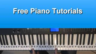 How To Play Set Fire to the Rain by Adele On Piano - Tutorial