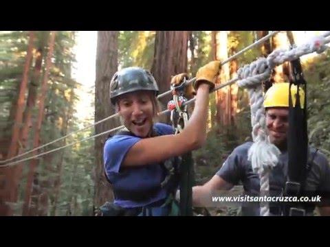 Redwoods zip line tours and outdoor holidays in Santa Cruz California