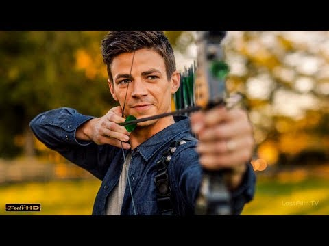 Барри Аллен в роли Стрелы тренирует Флэша (Оливер Куин) | Флэш: Иные Миры