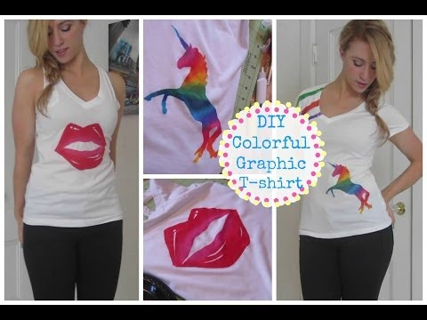 DIY Colorful Graphic T-shirt!