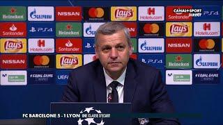 La conférence de presse de Bruno Génésio après Barcelone / Lyon