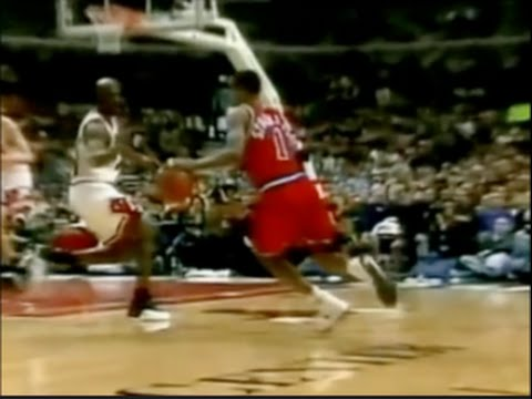 Michael Jordan Defense on Rod Strickland - 1997 1st Rd Game 1